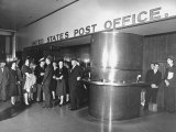 Sightseers Taking a Guided Tour of the Rockefeller Center Post Office