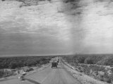 Henry A Wallce's Caravan Entering Mexico During a Visit