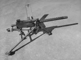 Side View of 30 Cal Browning Machine Gun