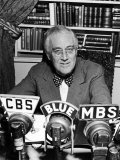 President Franklin D Roosevelt Speaking on Pre-Invasion Fireside Chat Radio Program