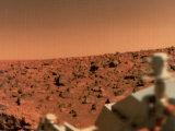 Surface of Mars from Viking 2  with Part of Spacecraft Visible
