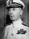 Admiral William D Leahy  Wearing White Summer Navy Uniform and Braided Cap