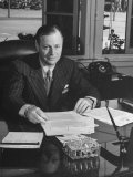 Robert E Gross  President of Lockheed Aircraft Co  Sitting at His Desk