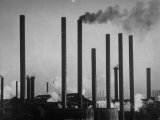 Smokestacks of Us Steel Plant