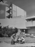 Students on Campus of Florida Southern University Designed by Frank Lloyd Wright