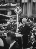 Konrad Adenauer with President John F Kennedy