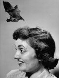 Joan Harris Experiencing a Bat Flying from Her Head  on Museum of Science Show