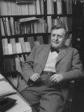Harvard University Professor Carl Joackim Friedrich Sitting in a Harvard Library