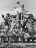 Dancers Do Matterhorn Act in Front of Artificial Slope at Disneyland