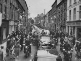President John F Kennedy's Motorcade Through City with Irish Crowd