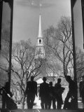 Students on Steps of Widener Library at Harvard University