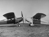 The Helioplane's Big 9 Foot Propeller Is Shown with Conventional 6 Foot Porpeller