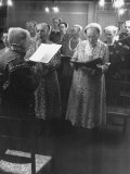 Shaker Women During Religious Service