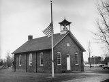 School Henry Ford Attending as a Child Flag at Half Staff During Henry Ford's Funeral