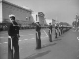 Sailors Lining Constitution Avenue for Funeral of Franklin D Roosevelt