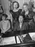 Mrs Bertha Stockwell with Students at Her Whistling School