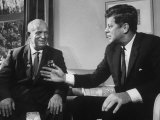 Soviet Premier Nikita S Krushchev Meeting with Us Pres John F Kennedy