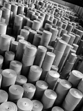 Rolls of Kraft Paper to Be Made into Paper Sacks Sit Stacked in the Union Bag and Paper Corp Plant