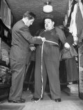Big Man Getting Fitted Up for a Suit at Sig Klein's Fat Men's Shop