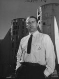 Germaqn Scientist Wernher Von Braun Posing for a Picture