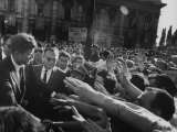 Enthusiastic Crowd Greeting President John F Kennedy