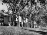 Exterior View of Charles Eames House  Showing How it Nudges into a Hillside