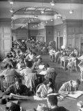 Students Studying in Reading Room of Howard University Library