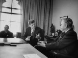 Pres John F Kennedy and John Diefenbaker