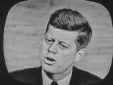 Presidential Candidate John F Kennedy Speaking During a Televised Debate