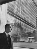Dr Ralph Bunche Standing in Front of the Un Building