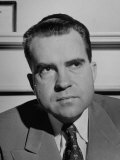 Informal Serious Portrait of Richard M Nixon