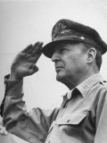 General Douglas Macarthur Saluting During the July 4 Allied Military Government Parade