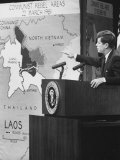 Pres John F Kennedy Speaking on Laos During Press Conference