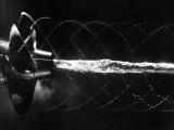 Propellar Turbalance Photographed in Stroboscopic Light as Water Passes the Torpedo