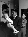 Communist Party Member Angelo Herndon Holding Baby