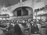 The Majlis Members Meeting in its Ornate Chamber of Teheran