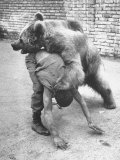 An Iranian Performace of a Man Wrestling a Bear in Public