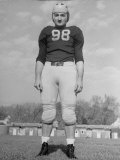 Portrait of Michigan Halfback Tom Harmon in Uniform