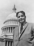 Rep Dalip S Saund  Standing in Front of the Captiol Building