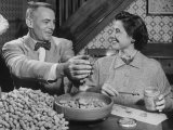 Barbara Angle Helping Her Husband Samuel Angle Prepare Food for the Flying Squirrels