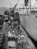 Ships Unloading in Dock  Waiting 15-20 Days Between Trips