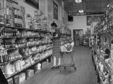 Woman Shopping in A&amp;P Grocery Store