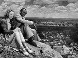 Bamangwato Tribal Chief Seretse Khama with Wife Ruth  Tribal Capital of Bechuanaland