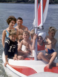 Apollo 8 Astronaut Bill Anders Taking His Wife Valerie and their Five Kids Sailing