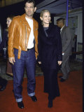 Musician Actor Chris Isaak and Actress Bridget Fonda at Film Premiere of &quot;Fight Club&quot;