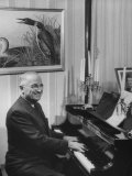 Former President Harry S Truman Playing the Piano
