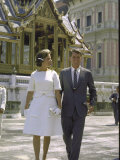 US Attorney General Robert Kennedy with Wife Ethel During Trip to Thailand