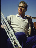 Juan Carlos of Bourbon  Son of Don Juan  Count of Barcelona  on Board Sailboat in Estoril  Portugal