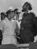 Russian Major Yuri A Gagarin and Cuban President Fidel Castro  During July 26th Celebrations