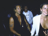 Actor Mickey Rourke and Girlfriend  Model Actress Carre Otis
